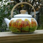 Fall Painted Tea Pots