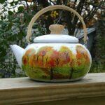Fall Painted Tea Pots