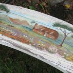 Shabby Chic Cottage Garden Bench