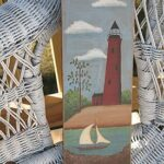 Lighthouse & Sailboat painting