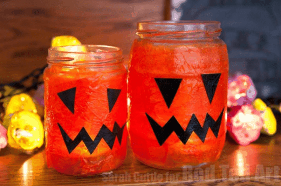 Jack o Lantern Luminaries for Halloween