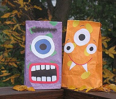 Halloween Monster Treat Bags