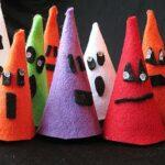 Halloween Felt Ghouls: Last Minute Easy Craft