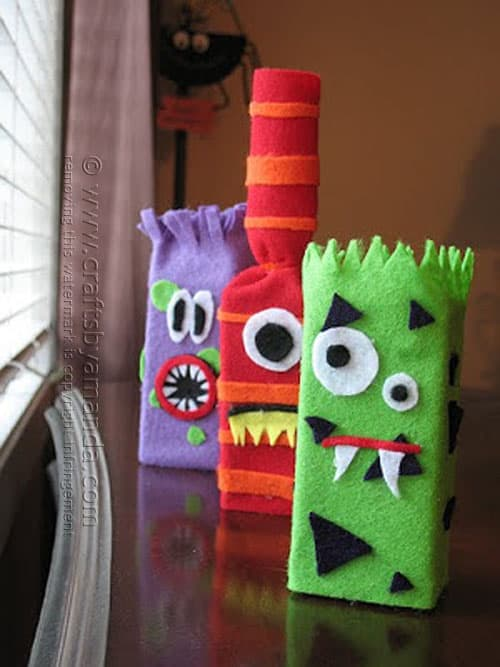 Juice Box Monsters - Crafts by Amanda