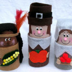 Cardboard Tube Pilgrims & Indians craft