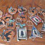 Rustic North Woods Ornaments – moose, bear, fish, cabin favorites