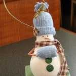 Light Bulb Snowman Ornament craft