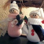 Snow People from Recycled Mittens