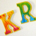 Make Tie Dye Wall Letters