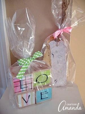 baby frame love blocks baby shower gift