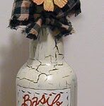 Basil Bottle: Painting on Jars