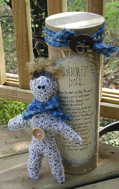 How to make a Dammit Doll, complete with dammit doll poem!