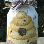 Honeycomb Design Jar