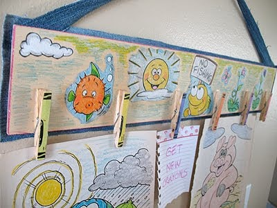 Make this fun clothespin art center using your child's coloring pages and clothespins!