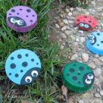 Super cute plastic lid ladybugs