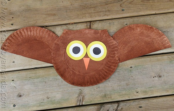 colorful paper plate owl paper plate owl craft crafts by amanda 3677