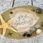 Gone Swimming Beach Plaque