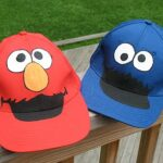Cookie Monster and Elmo Hats