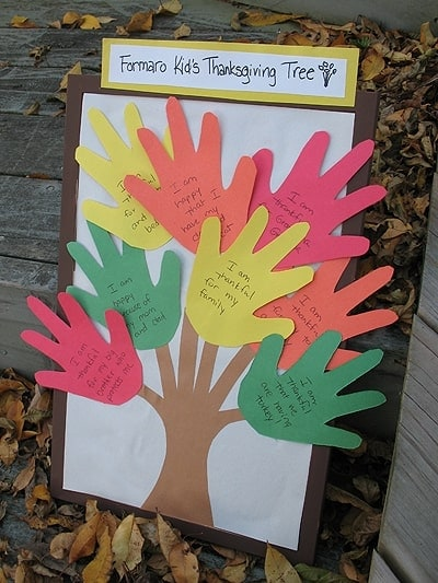 Thanksgiving Handprint Tree Craft Crafts By Amanda