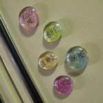 Conversation Marble Magnets for Valentine's Day