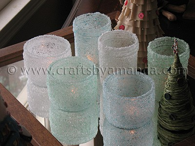 Recycled Home Decor on Epsom Salt Luminaries  Some Winter Beauty   Crafts By Amanda