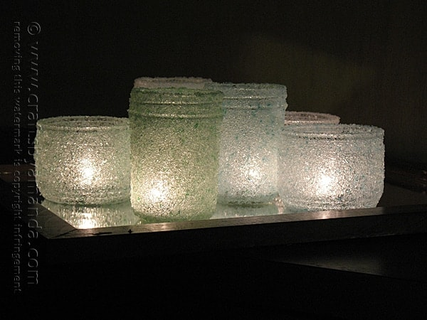 Epsom salt luminaries easy craft with jars epsom salt luminaries copyright crafts by amanda solutioingenieria Image collections