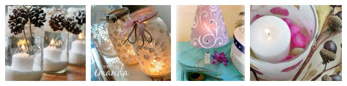 Beautiful luminary crafts, perfect for weddings and holidays.