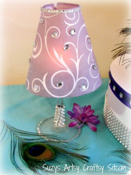 suzis tea light with bling
