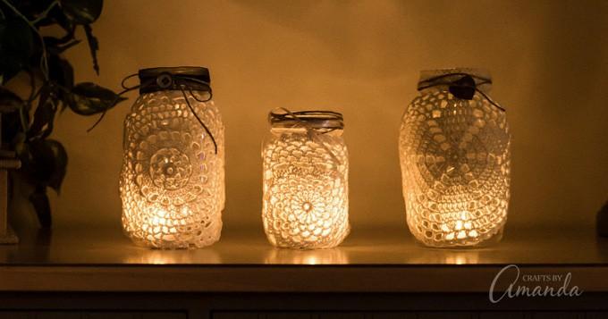 Doily Luminaries Home Decor Wedding Centerpieces