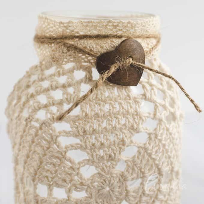 button tied around jar rim