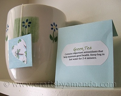 Make Valentine Tea Bags