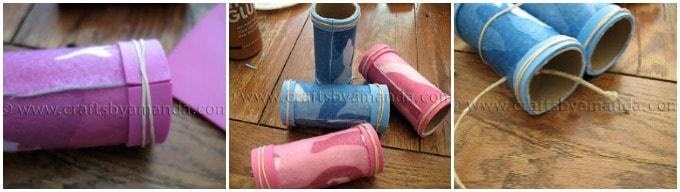cardboard tube binocular steps
