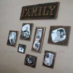 Decoupage Family Photo Plaques