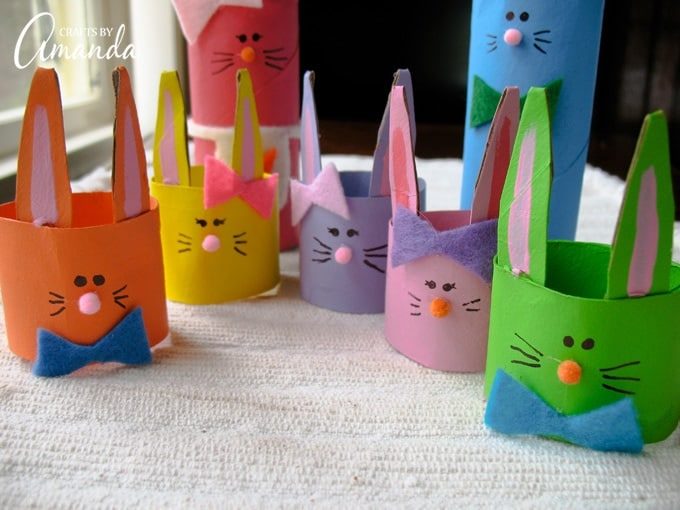 This fun craft is a great way to show your kids the importance of recycling by using cardboard tubes!
