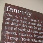 Distressed Family Definition Sign