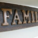 Wooden Letter Family Sign