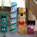 Amanda Formaro's Cardboard Tube Monsters in Parents Magazine