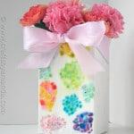 Egg Shell Mosaic Vase