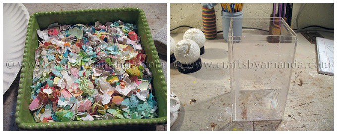 Eggshell mosaic vase step1 and 2
