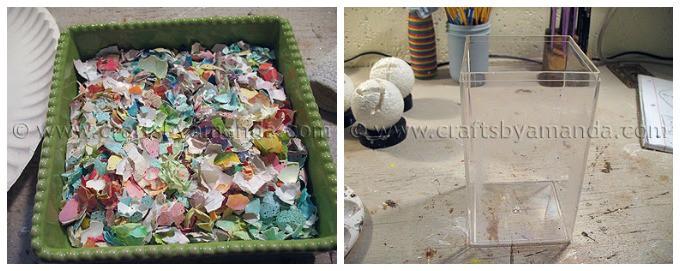 Eggshell mosaic vase step1 and 2