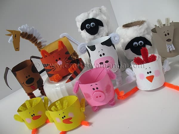Cardboard Tube Farm Animals