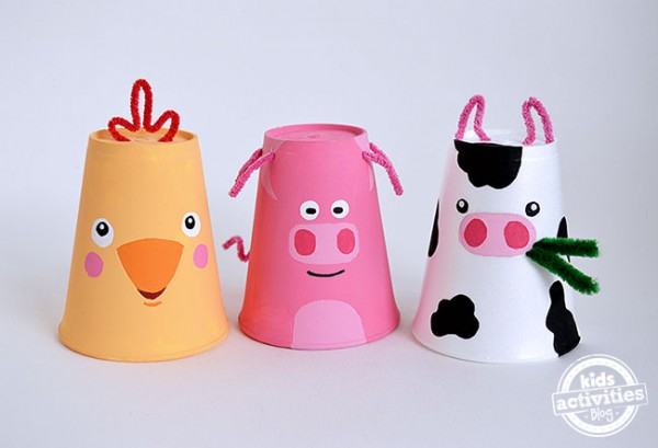 Foam Cup Farm Animals