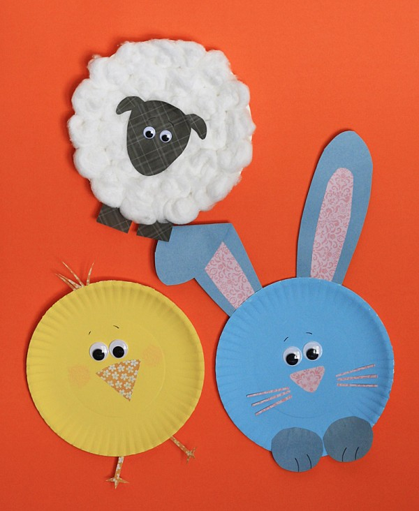 paper plate easter characters