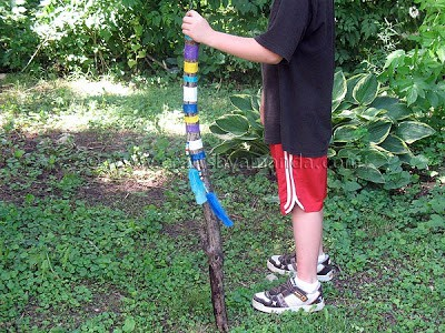 Camp Crafts Colorful Walking Stick Crafts By Amanda