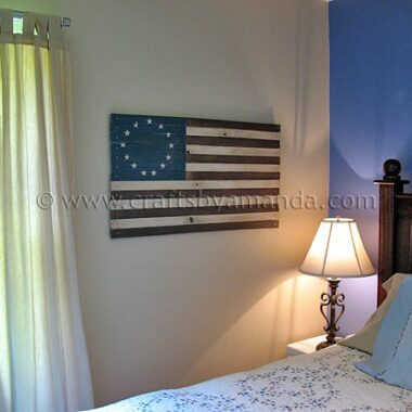 PB Inspired Rustic Colonial American Flag