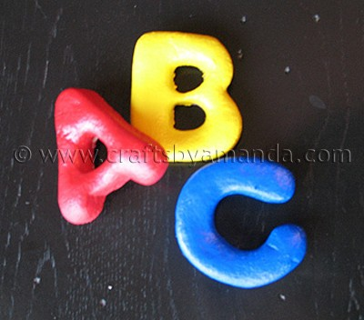 ABC Salt Dough Magnets