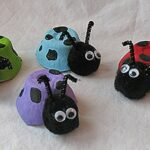 Ladybugs from Egg Cartons