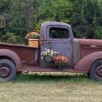 Funky Junky Flower Truck Yard Art