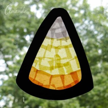 faux stained glass candy corn