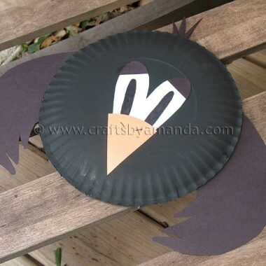 Paper Plate Crow